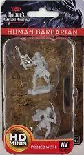 D & D HUMAN BARBARIAN Miniatures