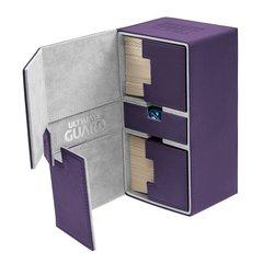 Ultimate Guard - Twin Flip'n'Tray Deck Case - XenoSkin Standard 200+ Purple