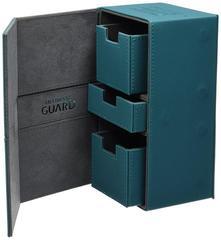 Ultimate Guard - Twin Flip'n'Tray Deck Case - XenoSkin Standard 200+ Petrol Blue