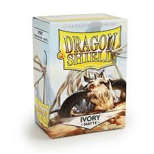Dragon Shield - Standard Sleeves - Matte Ivory (100 Sleeves) 63mm x 88mm