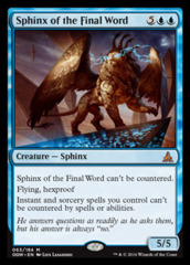 Sphinx of the Final Word - Foil