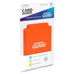Ultimate Guard Card Dividers 10 - Orange
