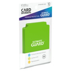 Ultimate Guard Card Dividers 10 - Light Green
