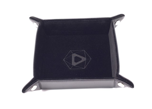 Folding Square Tray w/ Black Velvet