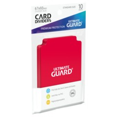 Ultimate Guard Card Dividers 10 - Red