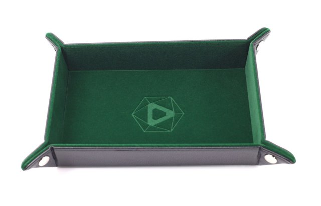 Die Hard Folding Rectangle Tray w/ Green Velvet