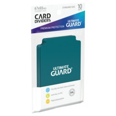 Ultimate Guard Card Dividers 10 - Petrol Blue