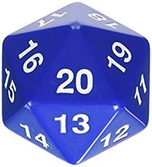 Opaque: 55mm D20 Countdown Blue/White Php495