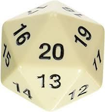 Opaque: 55mm D20 Countdown Black/White Php495