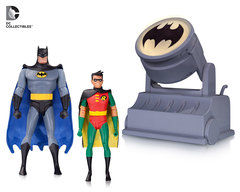 Batman Animated Batman & Robin AF with Bat-Signal