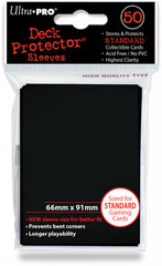 Ultra Pro Standard Sleeves Pack of 50 in Raven Black (New Sleeves Size 66mm x 91mm) on Channel Fireball
