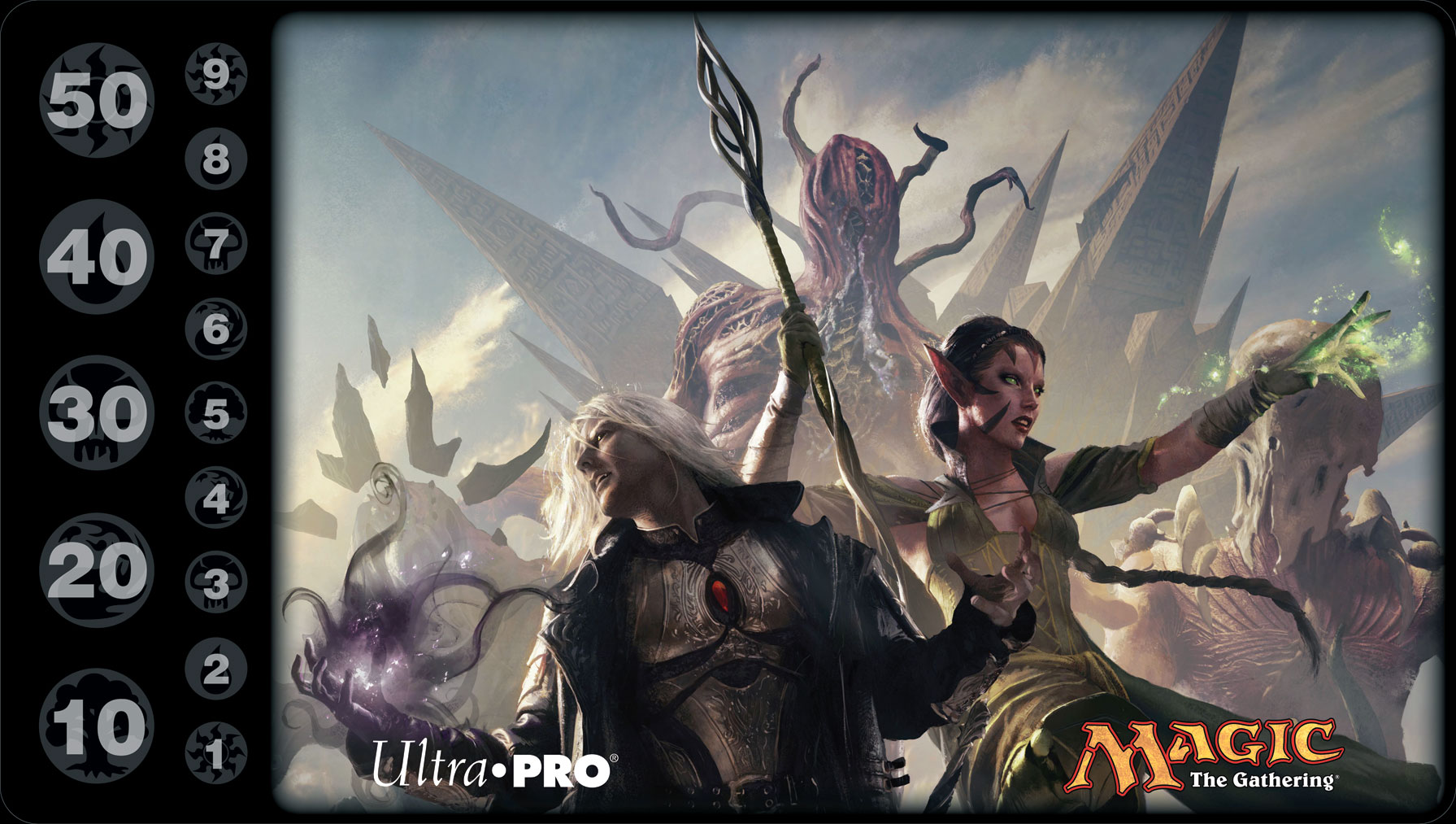 Rise of the Eldrazi featuring Sorin Markov and Nissa Revane Magic the Gathering Playmat