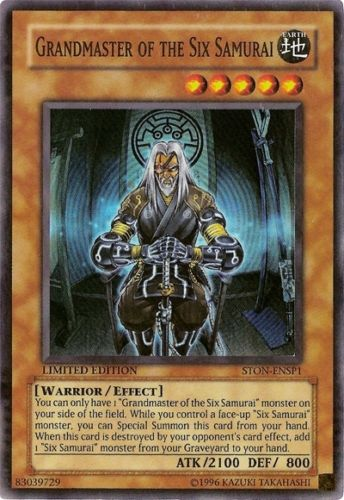 Grandmaster of the Six Samurai STON-ENSP1 Super Rare