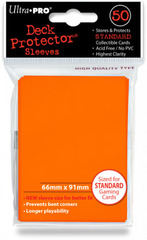 Ultra Pro Standard Sleeves Pack of 50 in Candy Orange (New Sleeves Size 66mm x 91mm)