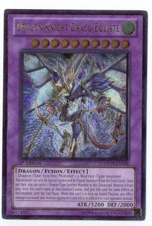Dragon Knight Draco-Equeste - Ultimate - DREV-EN038 - Ultimate Rare - 1st Edition