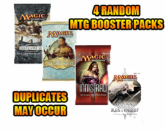 4 Random MTG Booster Packs on Channel Fireball