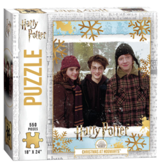 Harry Potter Christmas At Hogwarts 550 Piece Puzzle on Channel Fireball