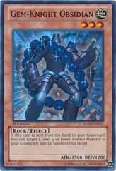 Gem-Knight Obsidian - HA06-EN031 - Super Rare - 1st Edition on Channel Fireball