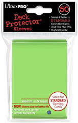 Ultra Pro Lime Green Sleeves 50 ct Standard Sized