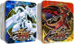 2010 Collection Tin 2nd Wave Set of Both Shooting Star Dragon Red Nova Dragon Tins
