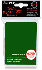 Ultra Pro Standard Sleeves Pack of 50 in Matrix Green (New Sleeves Size 66mm x 91mm) on Channel Fireball