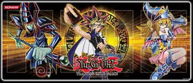 Yugi Dark Magician/Dark Magician Girl Playmat GLD4 - Yu-Gi