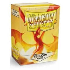 Dragon Shield Box of 100 in Matte Yellow on Channel Fireball