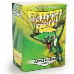 Dragon Shield Box of 100 in Matte Apple Green on Channel Fireball
