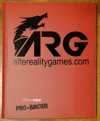 ARG Ultra Pro Pro-Binder-Red w/ Black Logo