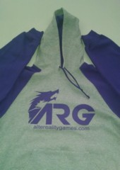 ARG Purple / Grey Hooded Sweatshirt on Channel Fireball