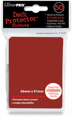 Ultra Pro Standard Sleeves Pack of 50 in Lava Red (New Sleeves Size 66mm x 91mm)