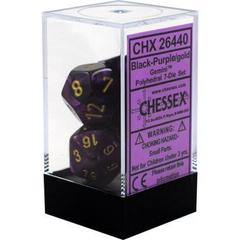 Gemini Black-Purple/Gold Polyhedral 7 Die Set CHX26440 on Channel Fireball