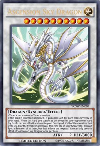 Ascension Sky Dragon Ultra Rare YCSW-EN007