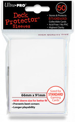 Ultra Pro Standard Sleeves Pack of 50 in Powder White (New Sleeves Size 66mm x 91mm)