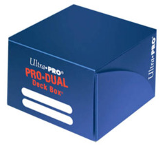 Ultra Pro Blue Pro-Dual Deck Box  (Holds 180 Cards)
