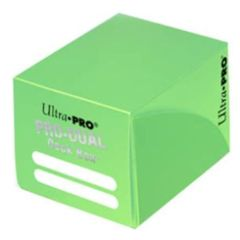 Ultra Pro Small Light Green Pro-Dual Deck Box (Holds 120 Cards)