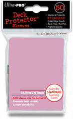 Ultra Pro Standard Sleeves Pack of 50 in Sunset Pink (New Sleeves Size 66mm x 91mm) on Channel Fireball
