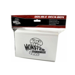 Monster Protectors Card Supplies White Double Deck Box