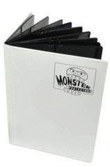 Monster Binder 4 Pocket - Matte White