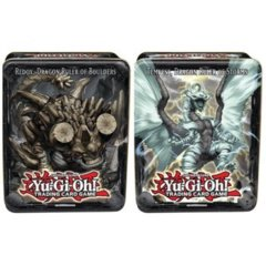 2013 Wave 2 Collector Tins Set of 2 Tempest, Dragon Ruler of Storms Tin & Redox, Dragon Ruler of Boulders on Channel Fireball