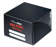 Ultra Pro Black Pro-Dual Deck Box  (Holds 180 Cards)