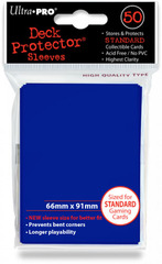 Ultra Pro Standard Sleeves Pack of 50 in Tsunami Blue (New Sleeves Size 66mm x 91mm)
