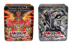 2012 Collectors Tin: Wave 2 Set of Both Tins (Ninja Grandmaster Hanzo & Hieratic Sun Dragon Heliopolis) on Channel Fireball
