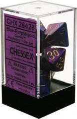 Gemini Blue-Purple/gold Polyhedral 7-Die Set CHX26428 on Channel Fireball