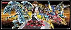 Kaiba Blue-Eyes White Dragon/XYZ-Dragon Cannon Playmat GLD4 on Channel Fireball
