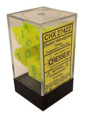 Vortex Electric Yellow/green Polyhedral 7-Die Set CHX27422