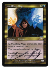Meddling Mage (1) - Planeshift - Signed by Chris Pikula