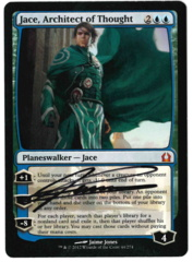 Jace, Architect of Thought - Return to Ravnica - Signed by artist Jaime Jones