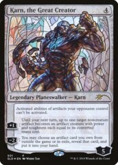 Karn, the Great Creator - Foil - Stained Glass