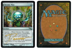 Chrome Mox - Foil (2) - Mirrodin - Signed by artist Donato Giancola